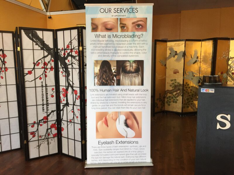 Banner Stands for Beauty Salons in Orange County
