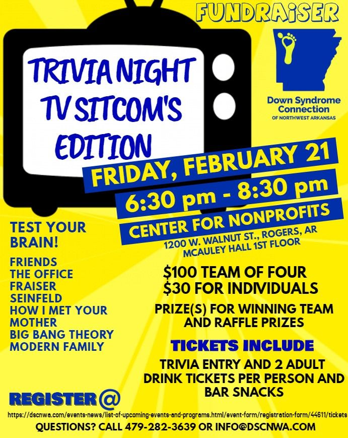 DSCNWA Trivia Night Fundraiser TV Sitcom Edition