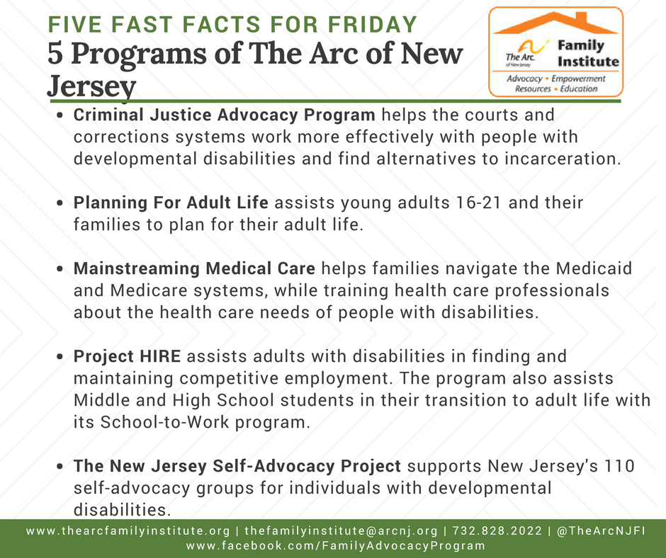 5 Programs of The Arc of New Jersey