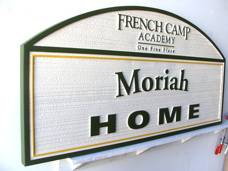 FA15606 - French Camp Academy Carved HDU Sign