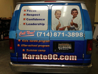 Van wraps and fleet graphics Orange County