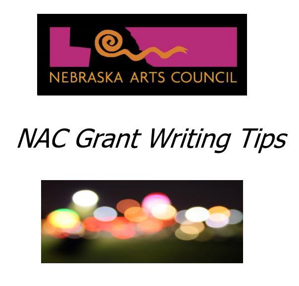 NAC Grant Writing Tips Image