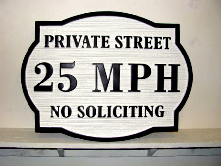 KA20676 - Custom Carved Wood Speed Limit Sign