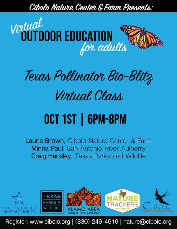 Texas Pollinator Bio-Blitz Virtual Class