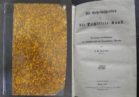 Rare German Cryptology Book by Kasiski (posted 5/7/13)