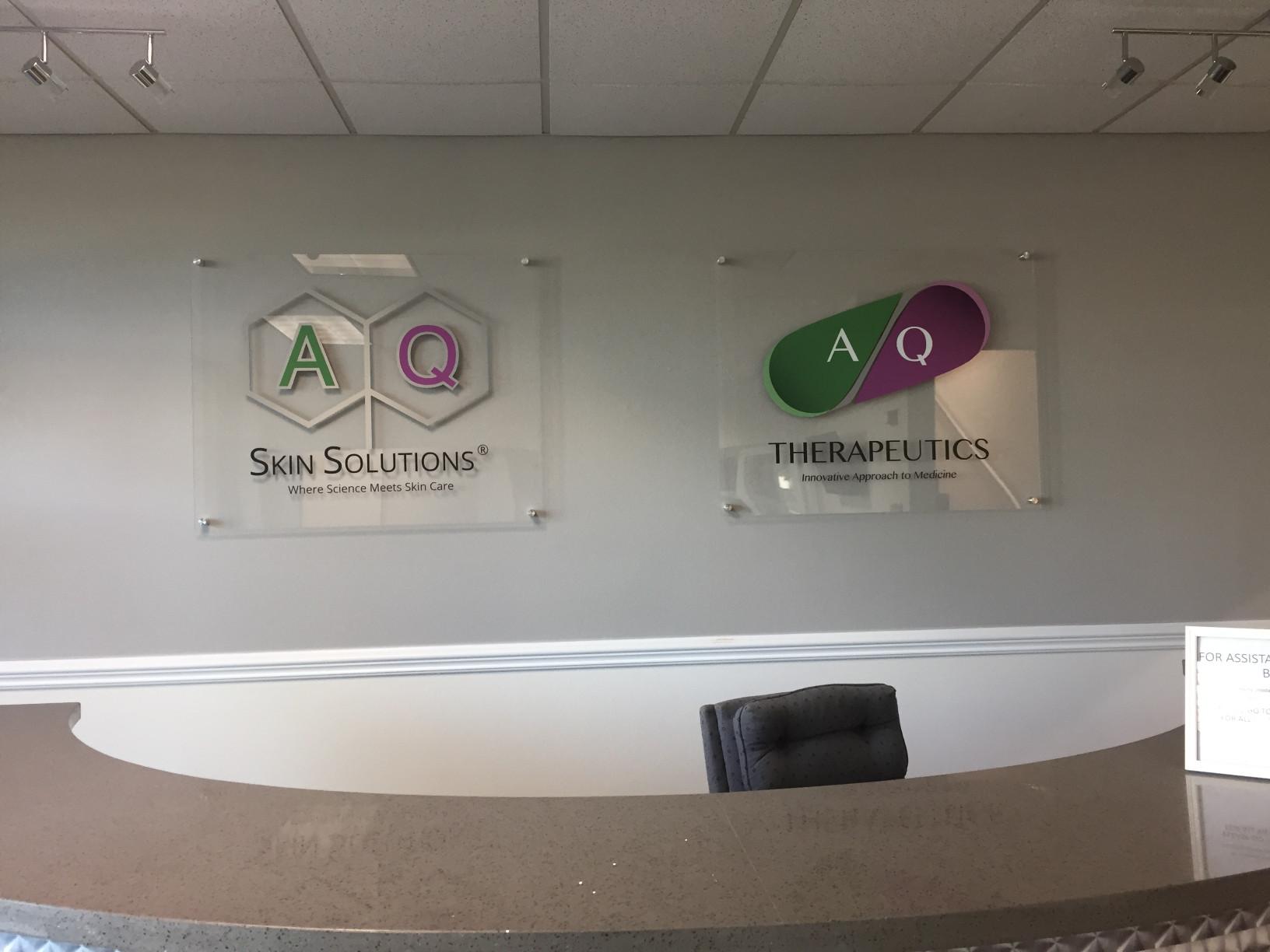 Reception Area Logo Signs