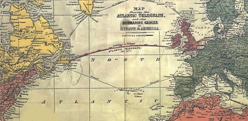 1866: First use of transatlantic telegraph cable.