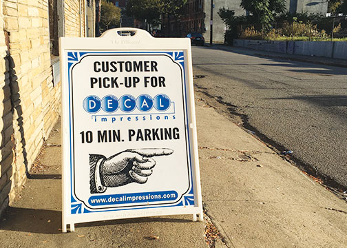 Decal Impressions AFrame Sandwich Board Parking Sign