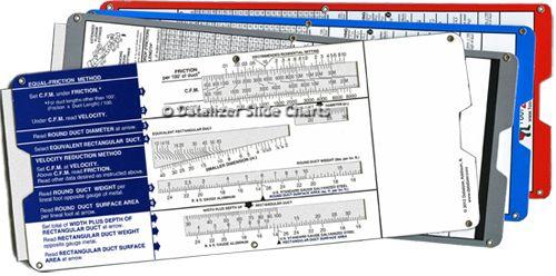 Air Duct Slide Rule Calculator