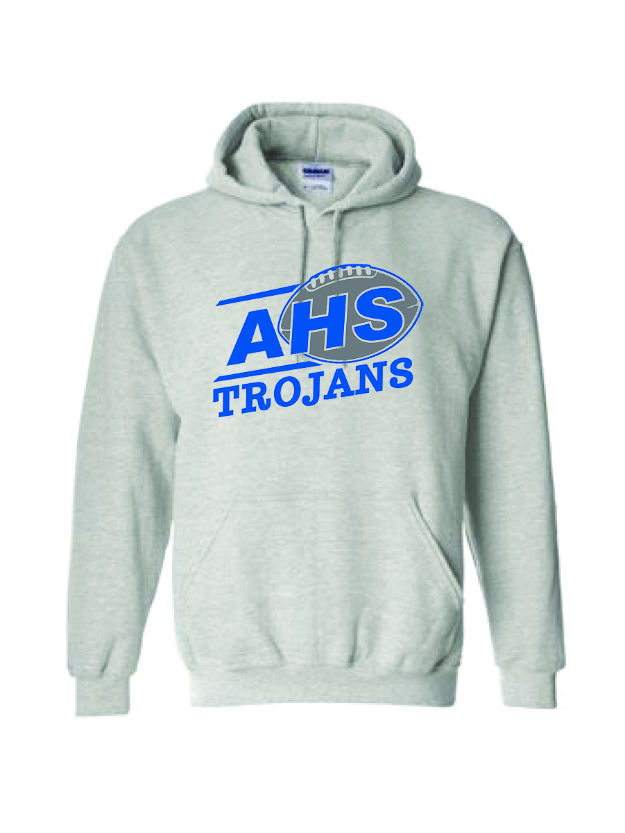 Auburn Football  Hoodie (Ash Gray)