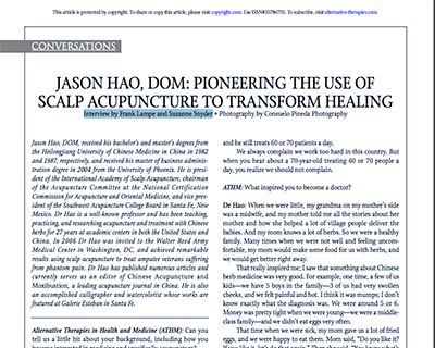 Jason Hao, DOM: Pioneering The Use Of Scalp Acupuncture To Transform Healing