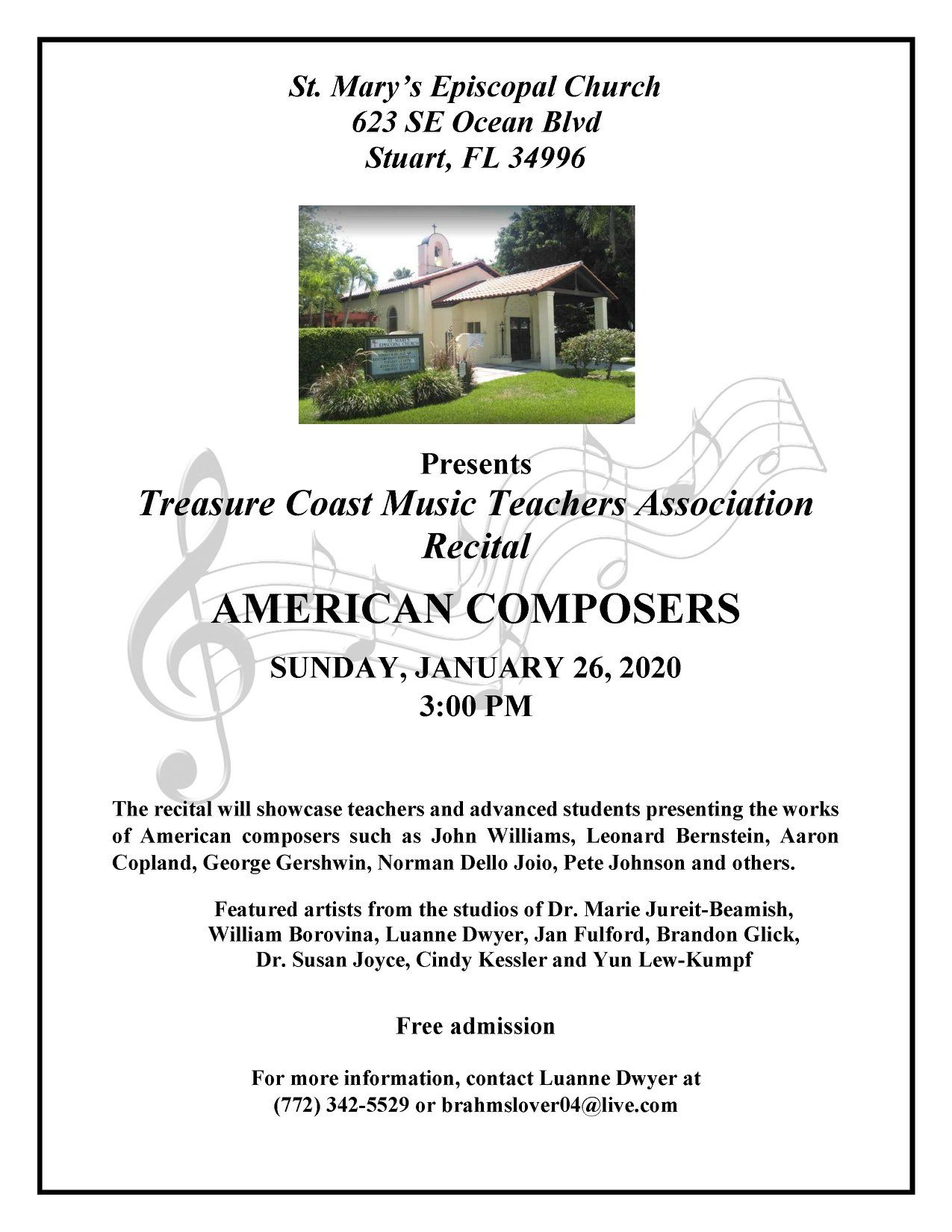Treasure Coast Teachers Association Music Recital