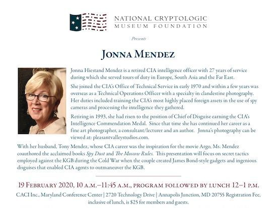 Ms. Jonna Mendez featured at Feb 2020 Program