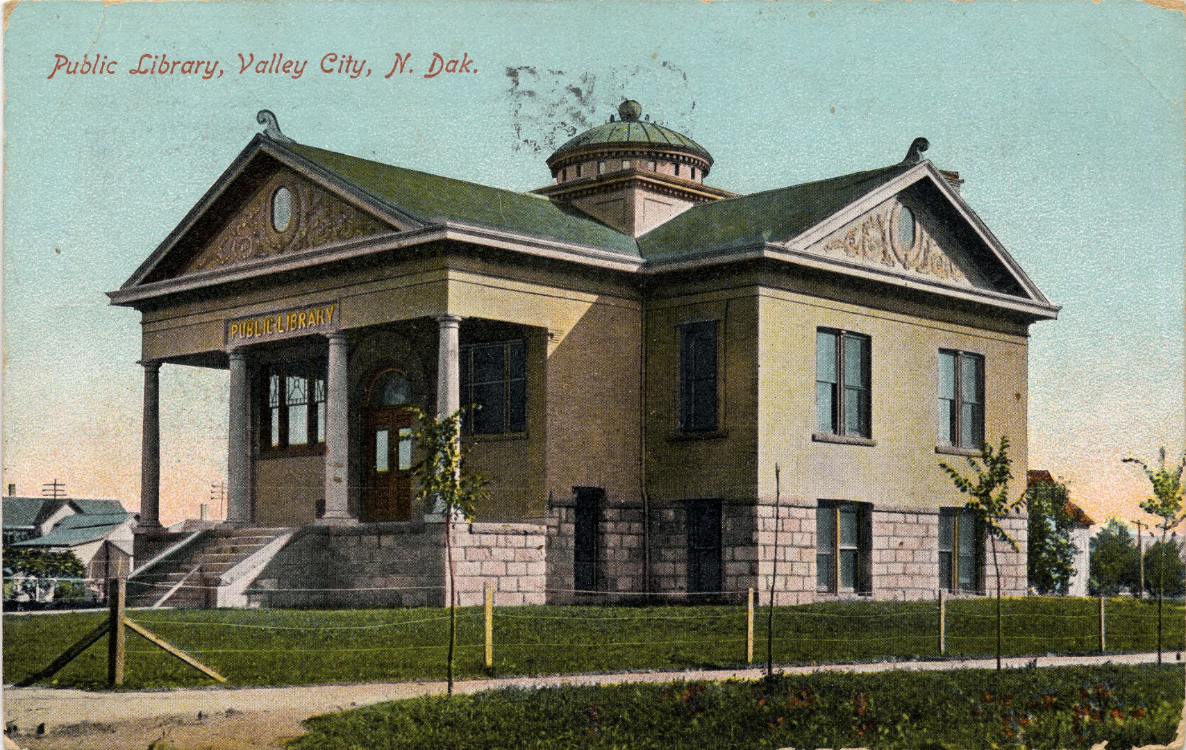 Library Color Postcard Approximately 1915