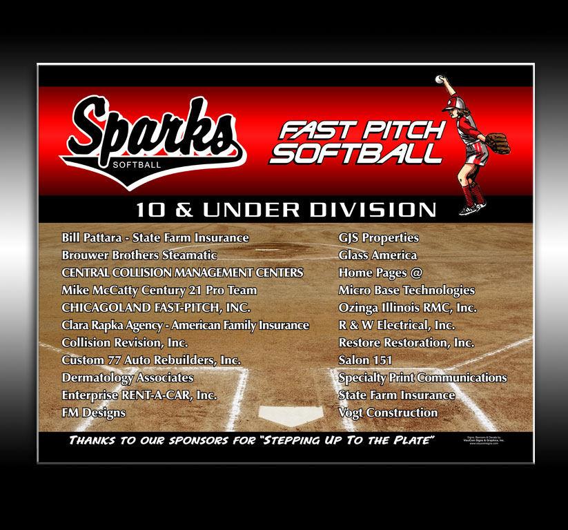 Sparks Softball Sponsors