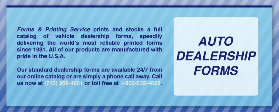 Auto Dealership Forms