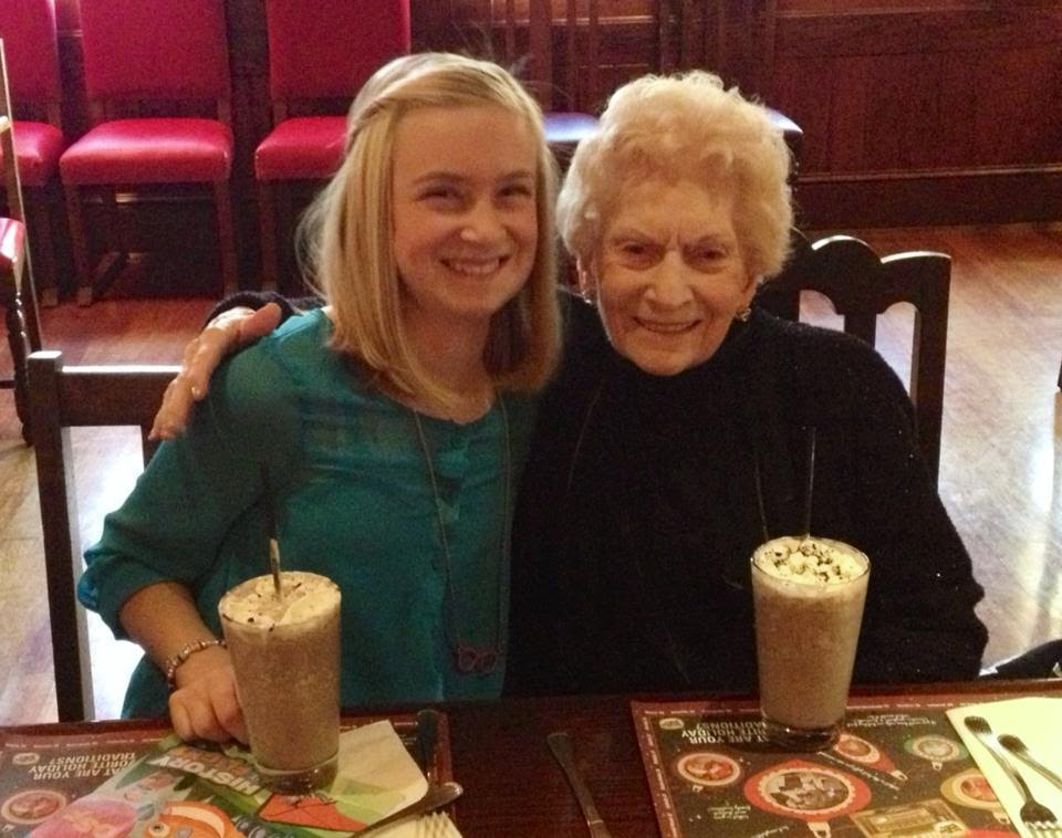 Gma and Kaya - her oldest grandchild
