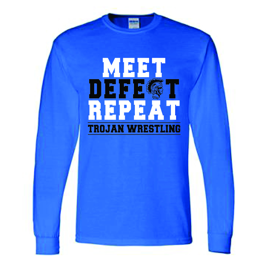 Auburn Wrestlling Long Sleeve (Blue)