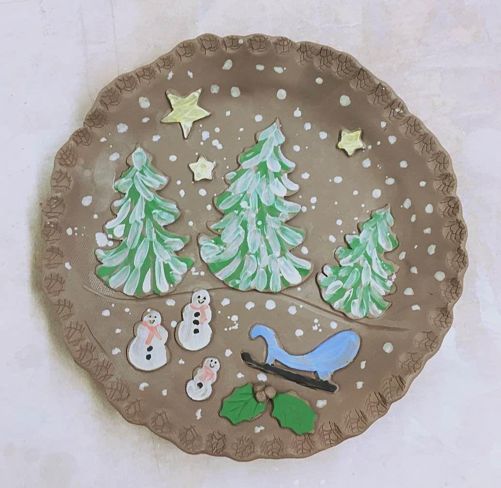 Winter Scene Plate Workshop