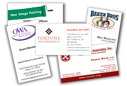 Business card printing business card designdallas carrollton texas business cards reheart Image collections