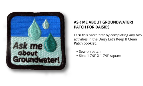 "Daisy ""Ask Me About Groundwater"" Patch"