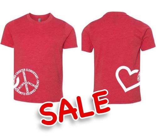 PEACE HEART - Youth Tee (Red) - XL