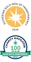 Guidestar and Charity Navigator Gold Level logos