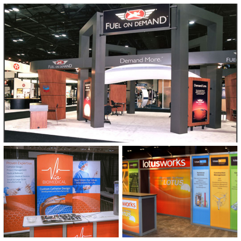 Trade Show Display options for different budgets and sizes in Boca Raton, FL