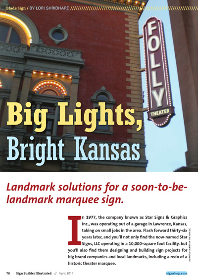 Star is Featured in the Latest Issue of Sign Builder Illustrated!