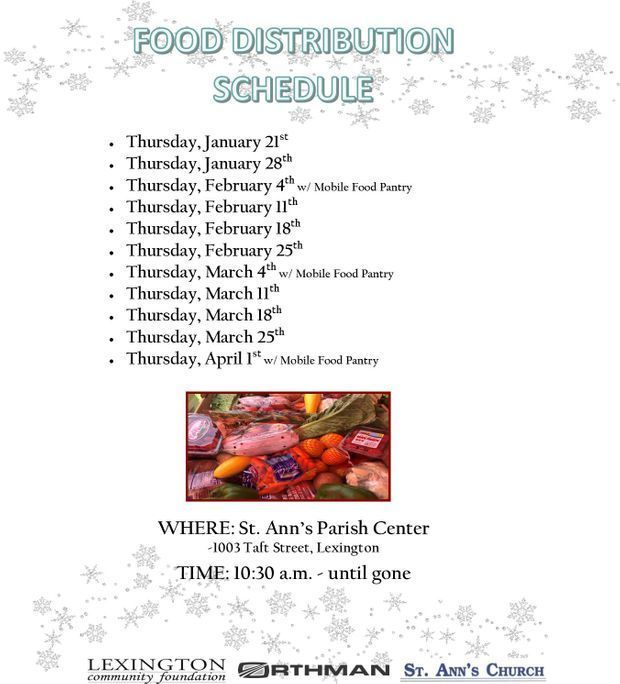 Food Distribution Schedule