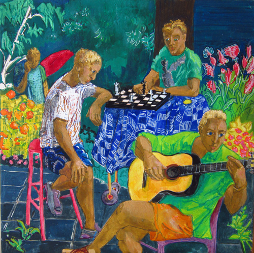 Chessplayers and Musician I