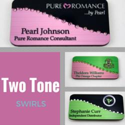 two tone swirls
