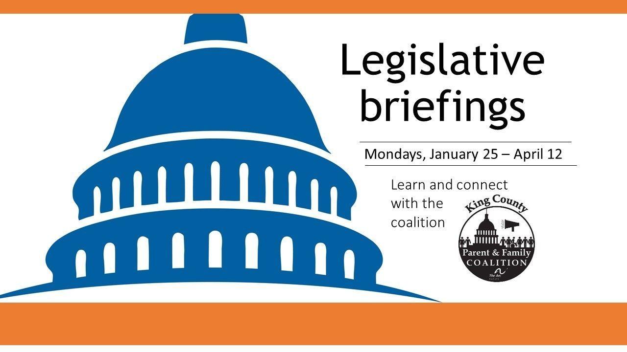 Legislative briefings for DD advocates