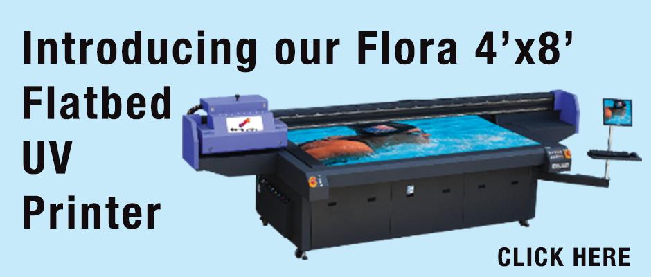 Flora 4'x8' Flatbed UV Printer