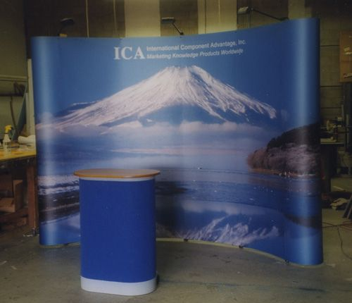 Trade Show Portable POP UP Displays with Custom 4 Color Printed Panels