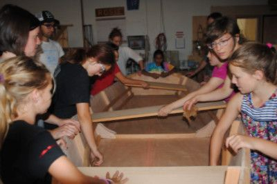 Girls Inc. campers learn to build a boat with Wind & Oar, 6/25/15 (click to view)
