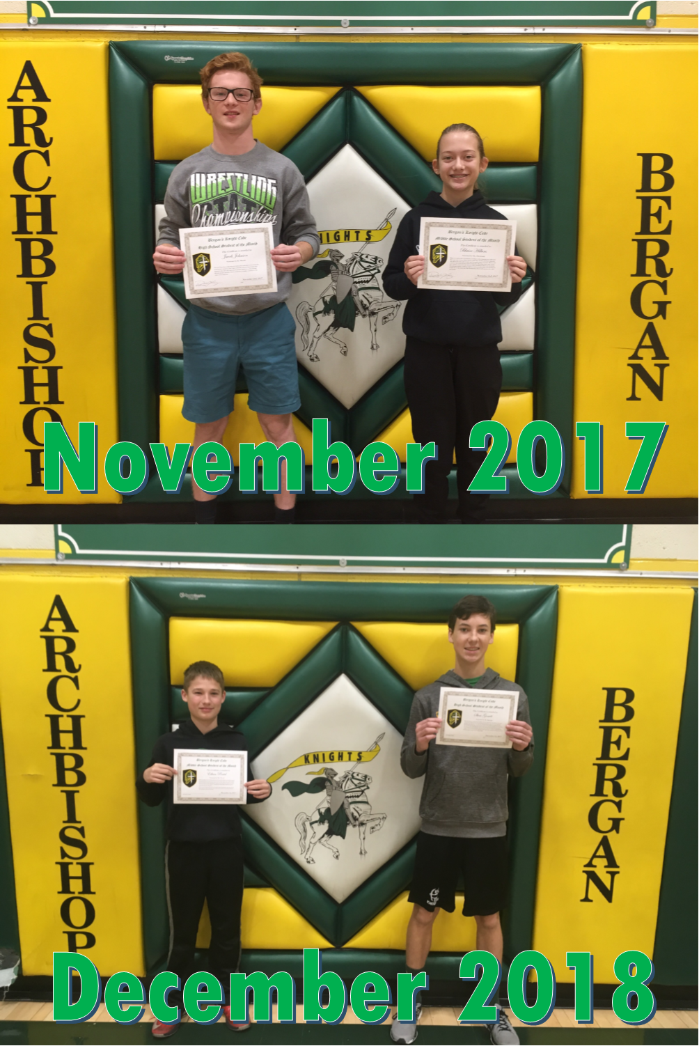 November & December - Knight's Code Students of the Month