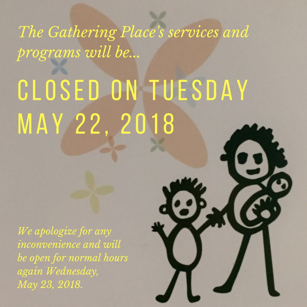 Services and Programs Closed on Tuesday, May 22, 2018