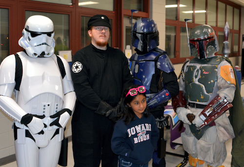 Star Wars Characters at the 2015 Howard County Math Festival