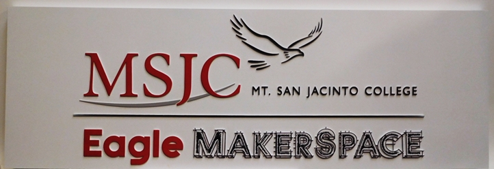 FA15590 - Carved Sign for Mt. San Jacinto Community College, 2.5-D Multi-Level Raised Relief