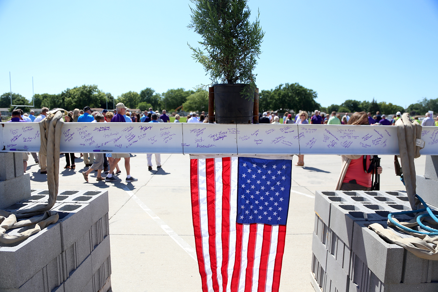 Historic Top Out Ceremony at Grand Island Senior High Memorial Stadium West