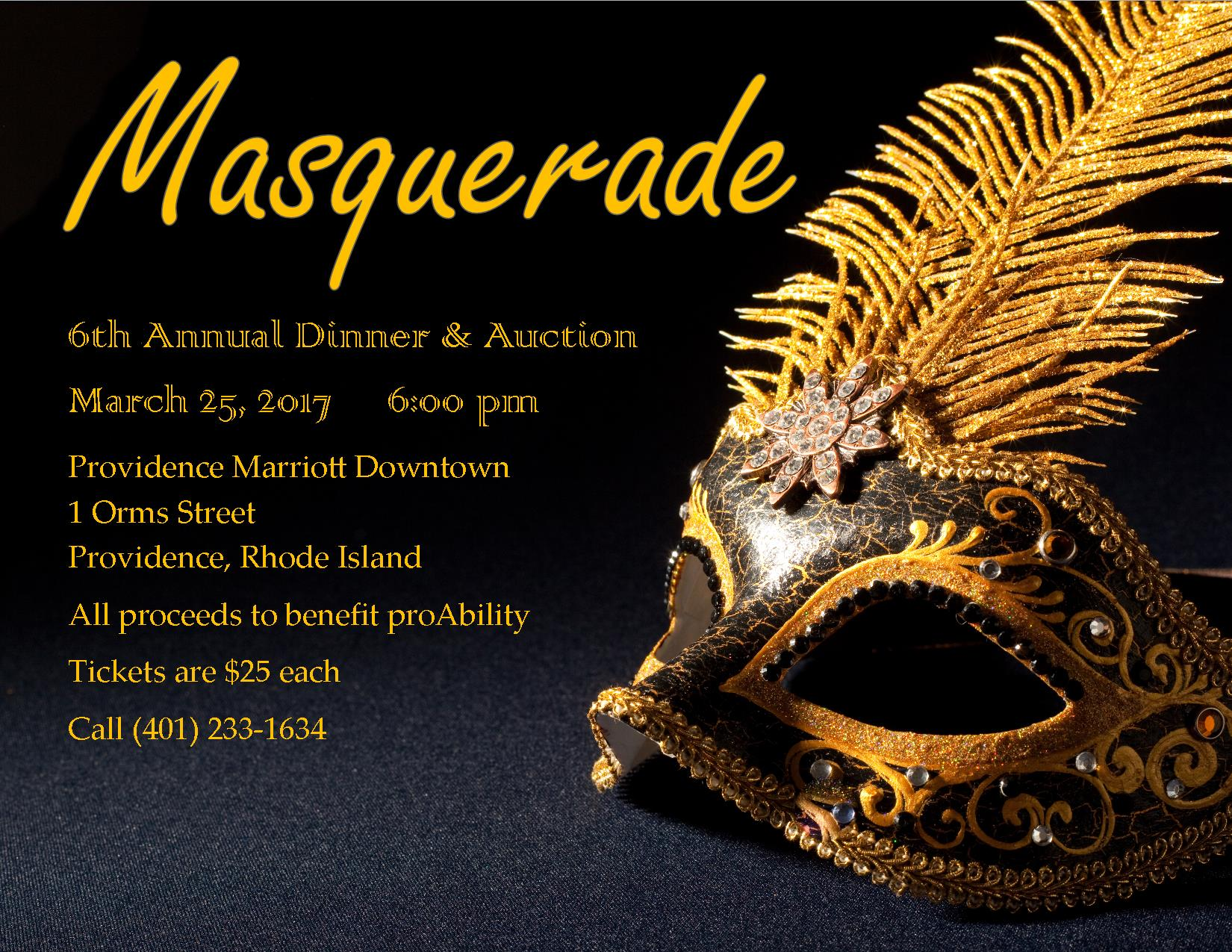 Masquerade Ball on March 25th