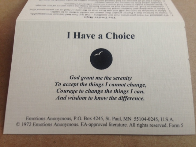 I Have a Choice (card)