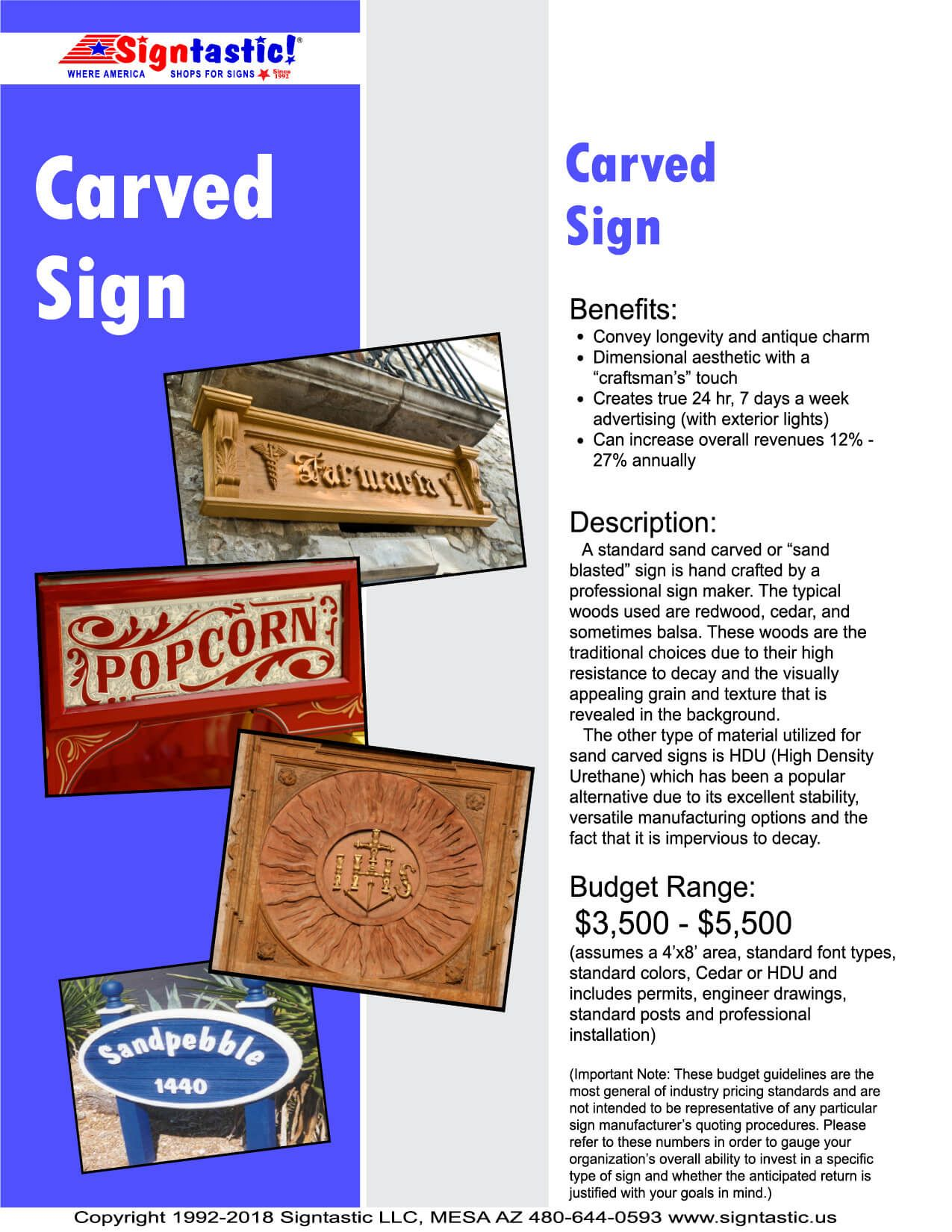 Carved Signs Page