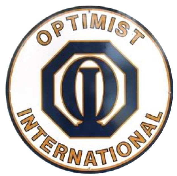 UP-1130 - Carved Wall Plaque of the Emblem of Optimist International, Artist Painted