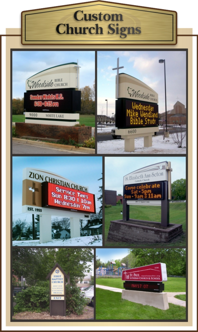 Custom Church Signs