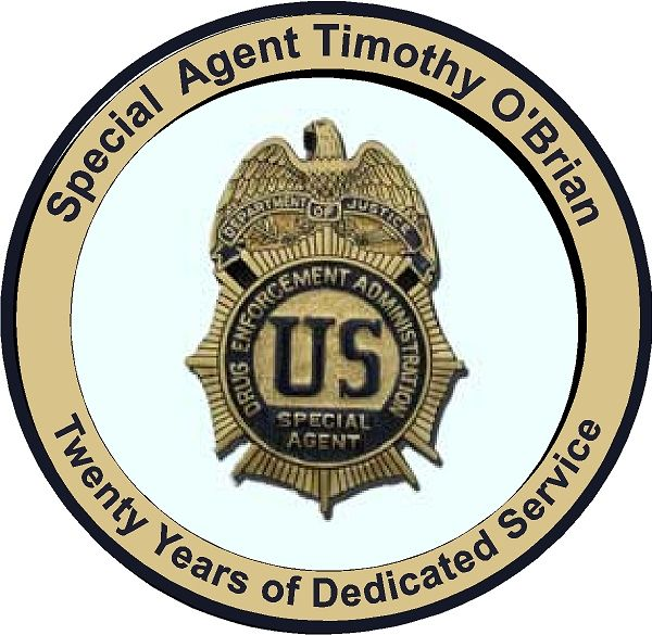U30375 - Drug Enforcement Administration (DEA)  Special Agent Badge Personalized Wall Plaque