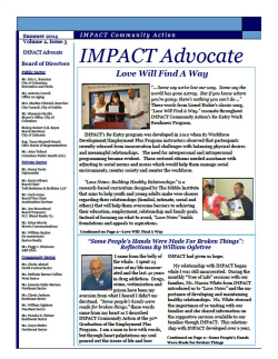IMPACT Advocate~Summer 2014