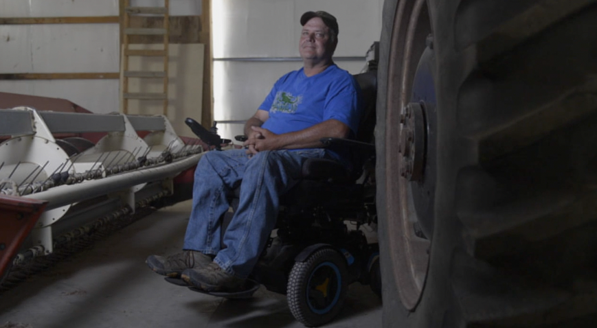 Generation farmer continues his life's work despite paralyzation