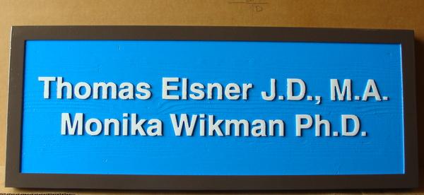 A10341 –Sandblasted Cedar Wood Office Sign